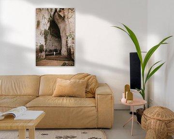 Das Ohr des Dionysos: eine Kalksteinhöhle in der Stadt Syracusa in Sizilien Italien von Manon Visser