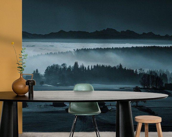 Beispiel fototapete: Der Nebel als Landschaftsmaler von Rudolf Brandstätter
