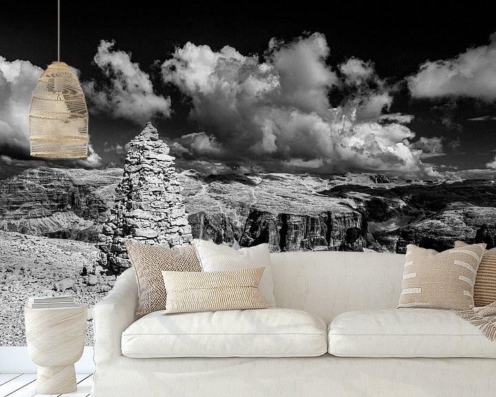 Beispiel fototapete: Mystisches Dolomitenpanorama von Rudolf Brandstätter