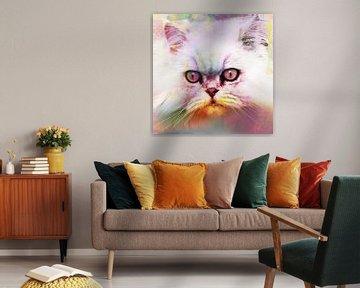 Katze, Katze, Kunst, Bunt, Einzigartig von Debby Loohuis