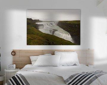 Gullfoss waterval van Louise Poortvliet