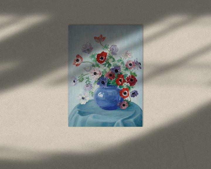 Beispiel: Ein Stillleben mit Anemonen von Antonije Lazovic