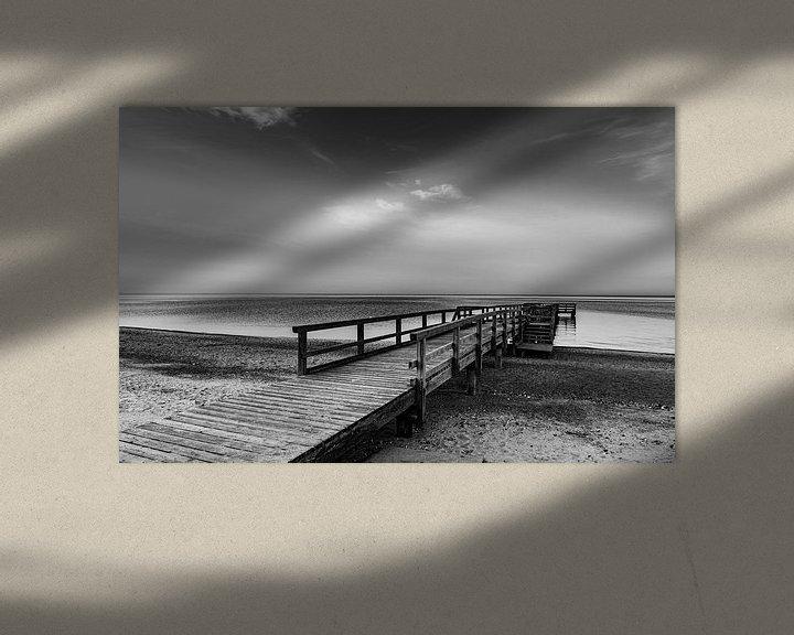 Beispiel: Der Steg am stillen Meer von Werner Reins