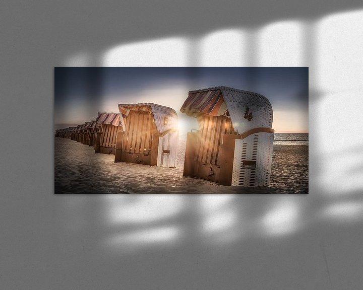 Beispiel: Strandkörbe im Sonnenlicht am Strand an der Ostsee von Voss Fine Art Fotografie