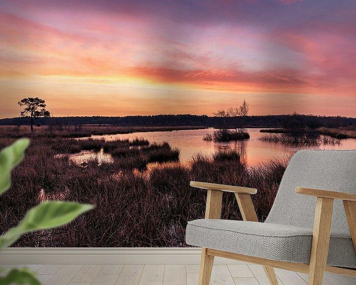 Sfeerimpressie behang: Zonsopkomst op Kraloo van Anneke Hooijer