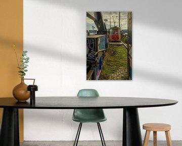 Oude tram op NDSM-werf van Foto Amsterdam / Peter Bartelings