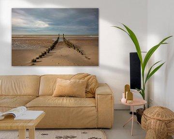 paalhoofden bij Domburg de noordzee van anne droogsma
