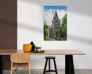Kirche in den belgischen Ardennen (Gemälde)