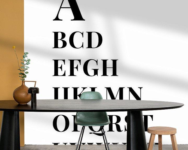 Sfeerimpressie behang: Alfabet, van A tot Z van MarcoZoutmanDesign