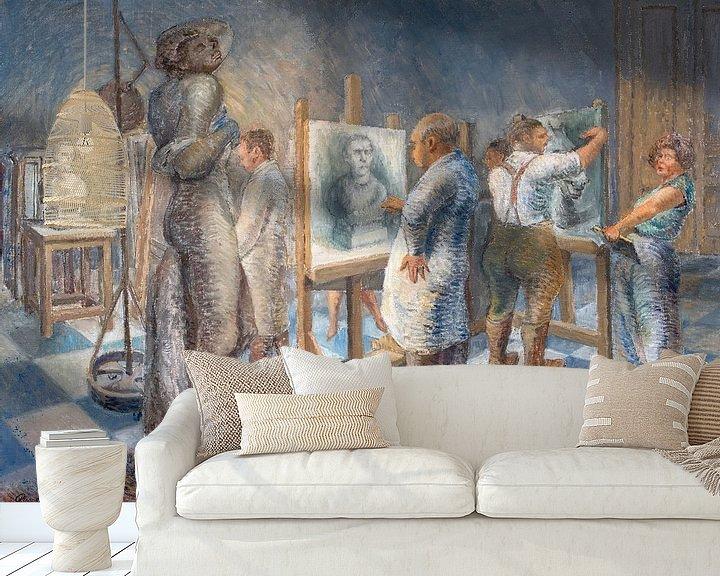 Sfeerimpressie behang: Kunstenaars in de academie. van Galerie Ringoot