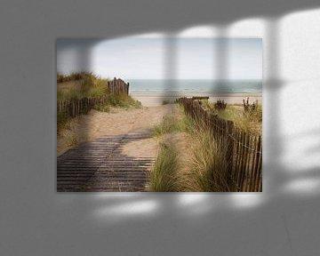 duinen met zicht op zee van Klaartje Majoor