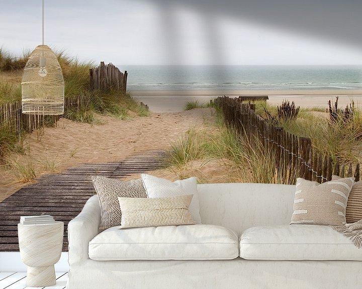 Sfeerimpressie behang: duinen met zicht op zee van Klaartje Majoor