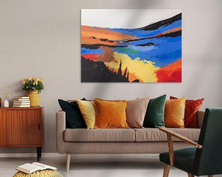 Sfeerimpressie: Hans Sturris - Unknown valley - reproductie van Galerie Ringoot