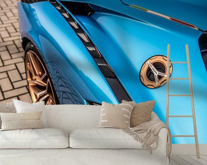 Sfeerimpressie behang: Lamborghini Sián van Bas Fransen