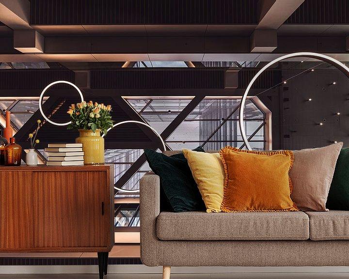 Beispiel fototapete: Architektonische Details eines Daches von Jonai