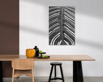Muster auf einem Blatt in Schwarz und Weiß. von Christa Stroo fotografie