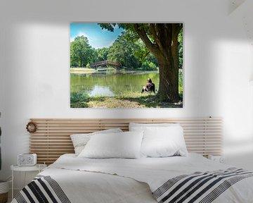Johannapark met meer in Leipzig van Animaflora PicsStock
