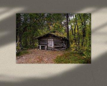 Oude hut langs de Friisveien in Noorwegen