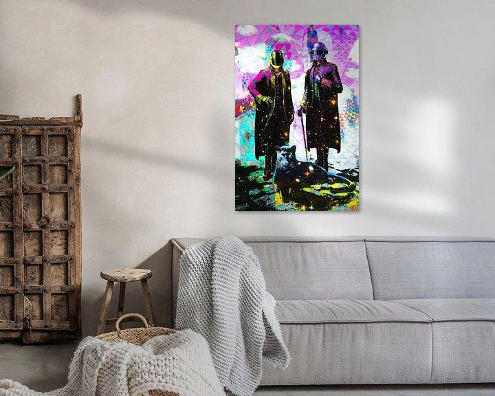 Beispiel: Daft Punk Tribut Kunstwerk Portrait von Giovani Zanolino