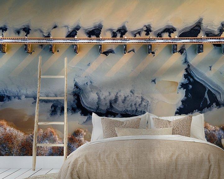 Sfeerimpressie behang: het ijs oversteken van Ruud Peters