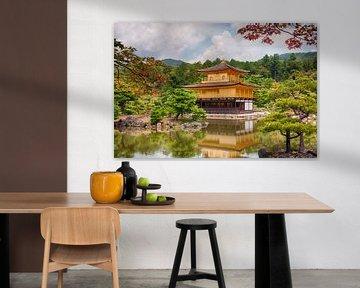Gouden tempel Kinkaku-ji, Kyoto, Japan van Sebastian Rollé - travel, nature & landscape photography