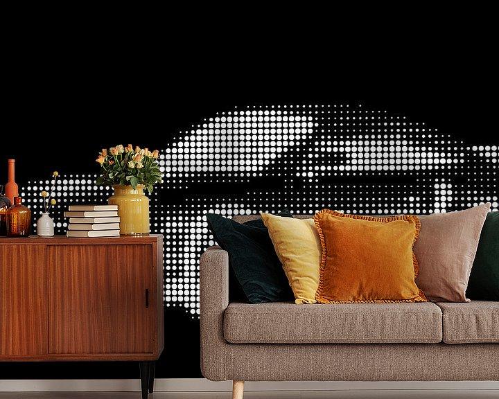 Beispiel fototapete: Porsche 911 Kunst von Jessica Berendsen