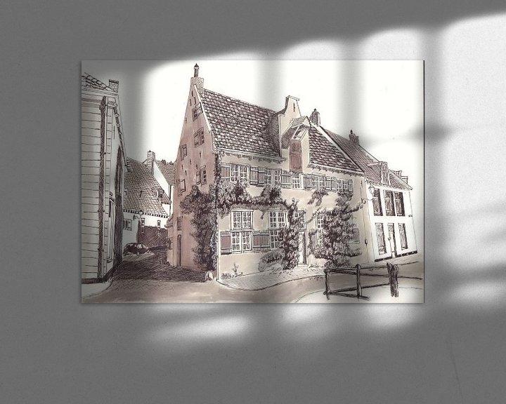 Sfeerimpressie: amersfoort huis met klimop van djcartsupplies