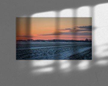 Winterlandschap II van Diane van Veen