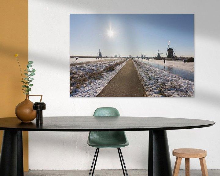 Impression: Patinage sur glace à Kinderdijk sur Charlene van Koesveld