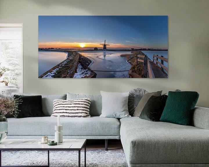Sfeerimpressie: Molen het Noorden Texel winterlandschap van Texel360Fotografie Richard Heerschap