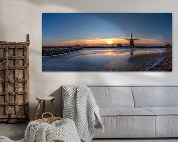 Molen het Noorden Texel winterlandschap van Texel360Fotografie Richard Heerschap