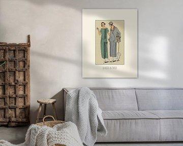 La veste en tweed | Vintage mode prent | Historische Art Deco  fashion  design van NOONY