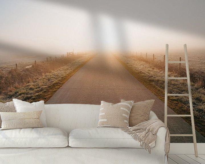 Sfeerimpressie behang: Middelburg cold sunrise 4 van Andy Troy