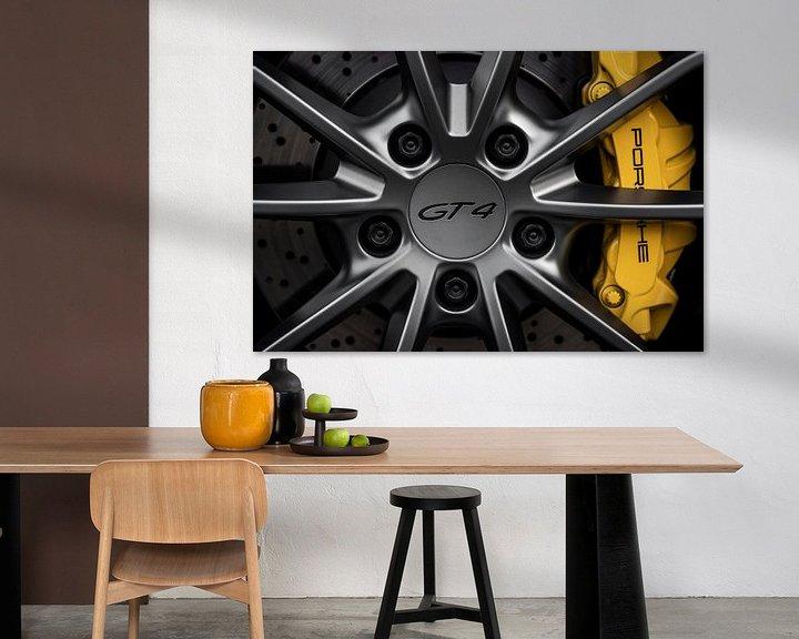 Beispiel: Porsche GT4 Rad Nahaufnahme von Maikel van Willegen Photography