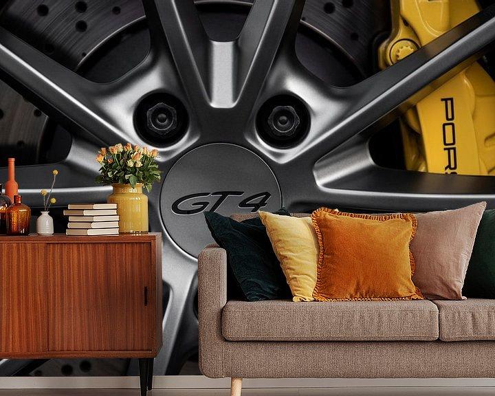 Beispiel fototapete: Porsche GT4 Rad Nahaufnahme von Maikel van Willegen Photography