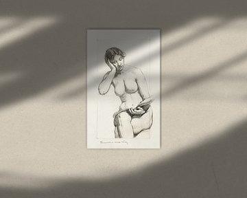 Romanze, Studie eines Aktes, Kenyon Cox (1896)