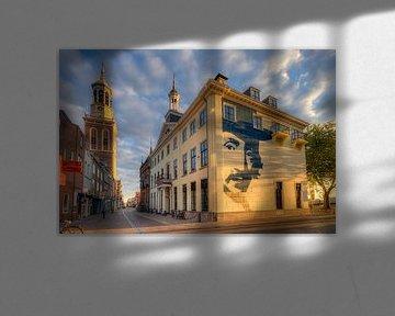Oudestraat Kampen in het gouden uur