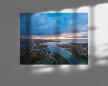 Der Slufter Texel nach Sturm Bella von Texel360Fotografie Richard Heerschap