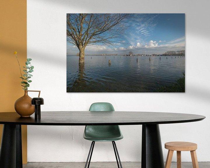 Sfeerimpressie: Hoogwater bij haven Maurik van Moetwil en van Dijk - Fotografie