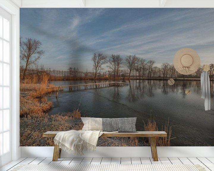 Sfeerimpressie behang: Meertje met steiger van Moetwil en van Dijk - Fotografie