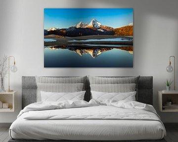 Watzmann weerspiegeling in de winter van Dieter Meyrl