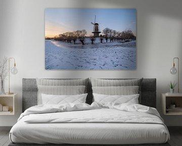 Molen Prins van Oranje in de winter van Moetwil en van Dijk - Fotografie