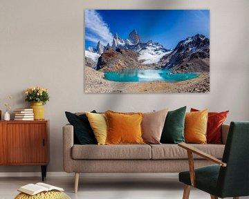 Fitz Roy dans le parc national de Los Glaciares, Patagonie, Argentine sur Dieter Meyrl