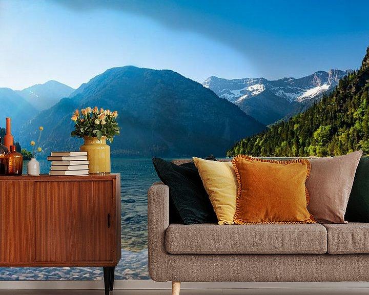 Beispiel fototapete: Alpensee am Morgen von Urlaubswelt