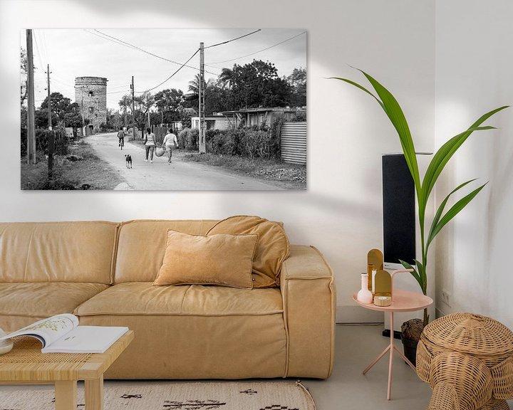 Beispiel: Landleben in Kuba - schwarz weiß Bild von Urlaubswelt