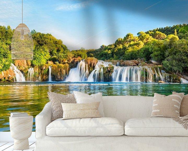 Beispiel fototapete: Krka Wasserfall in Kroatien von Urlaubswelt