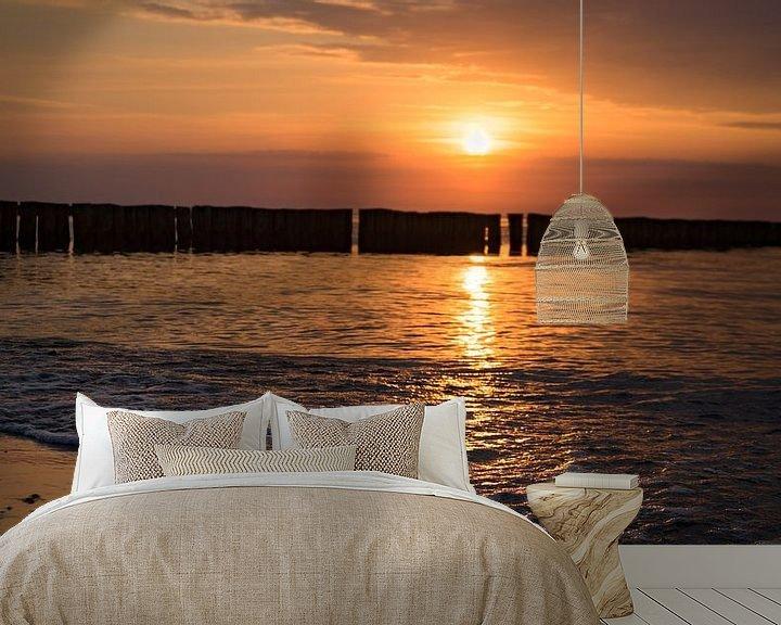 Beispiel fototapete: Sonnenuntergang am Ostsee strand von Urlaubswelt