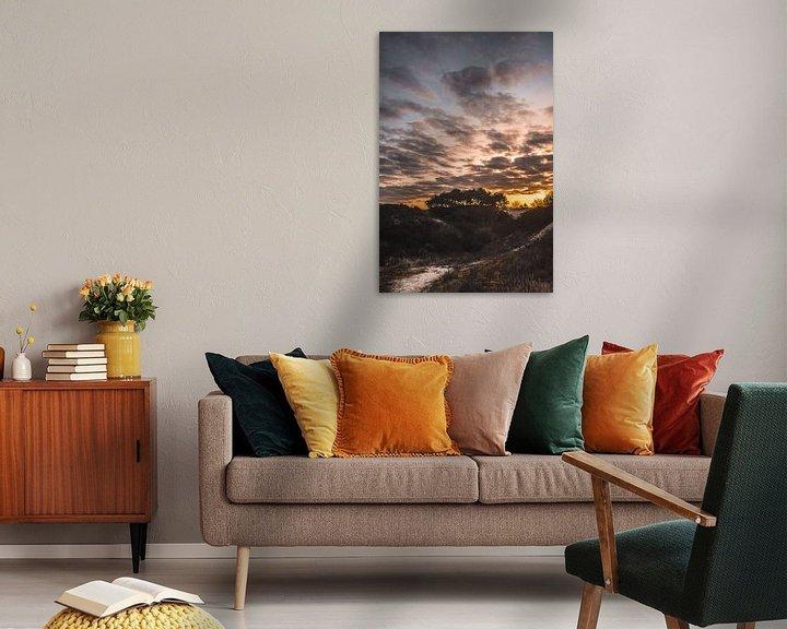 Sfeerimpressie: Zonsopkomst over de duinen van Jan Willem De Vos