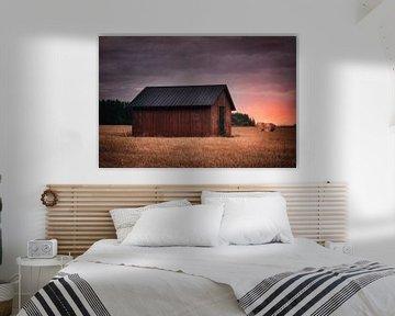 Swedish countryside barn