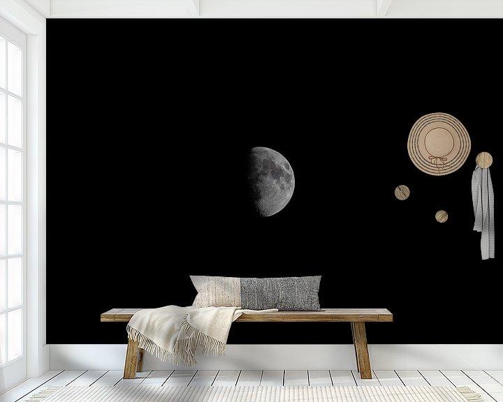 Sfeerimpressie behang: De Maan van Mike Van Zijderveld
